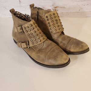 Lucky Brand studded booties